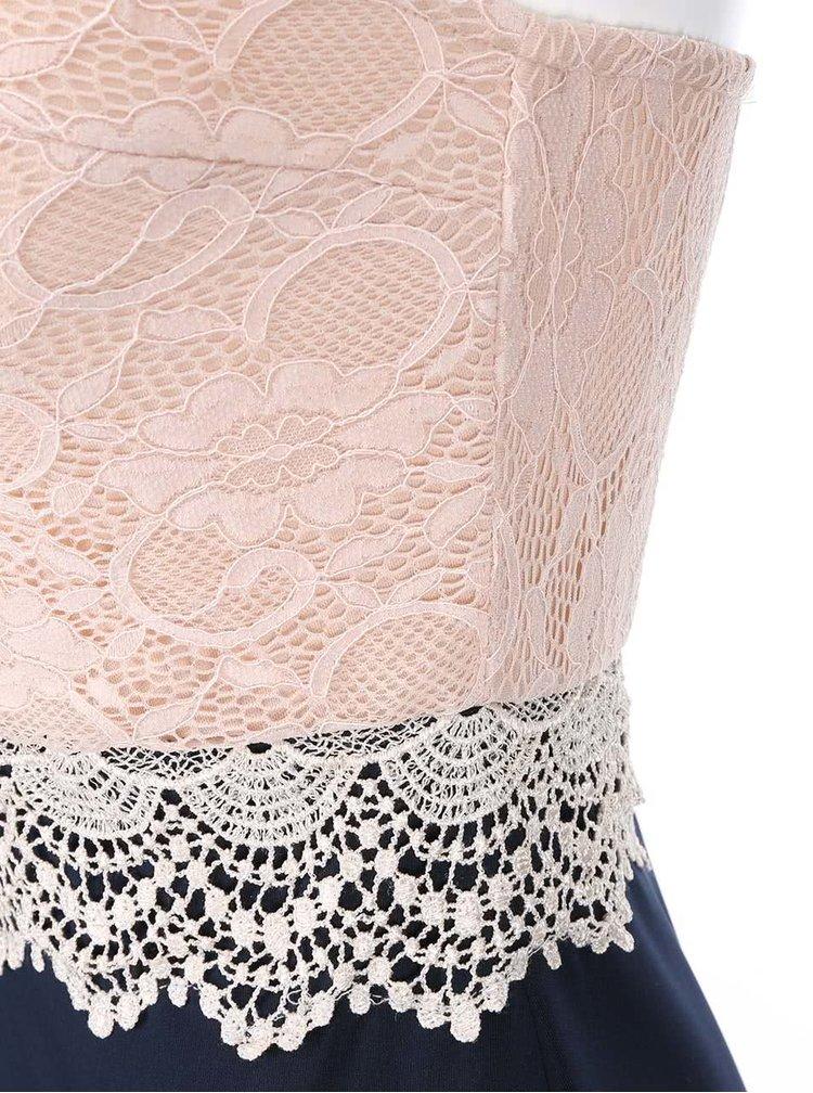 Ružovo-modré šaty s čipkou AX Paris