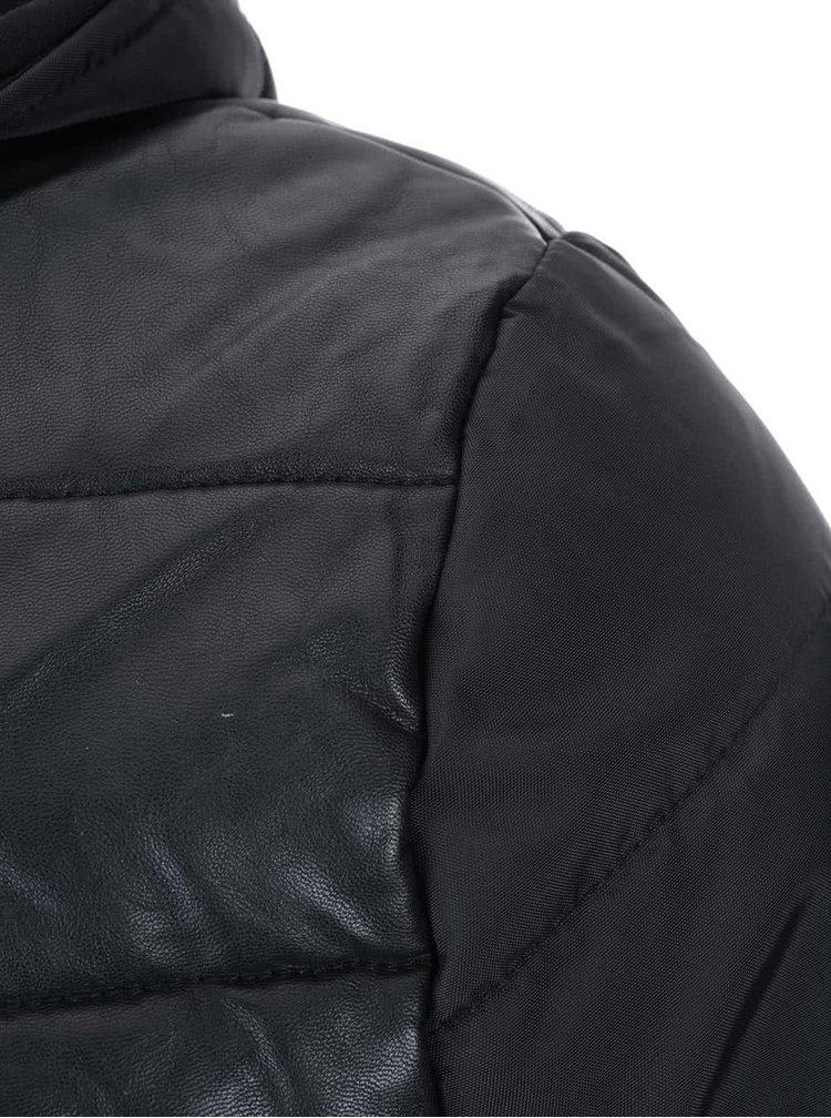 Čierna bunda ONLY & SONS Graham
