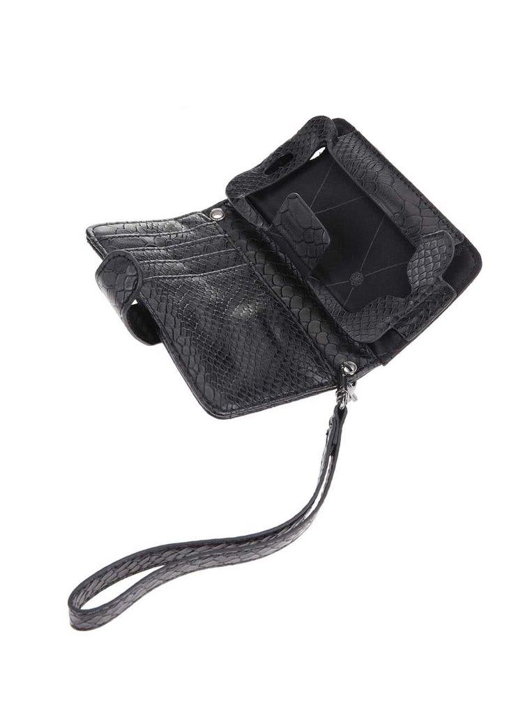 Čierne puzdro na mobil s odnímateľným popruhom pieces