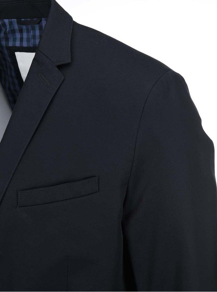 Tmavě modré sako s kostkovanou podšívkou Ben Sherman