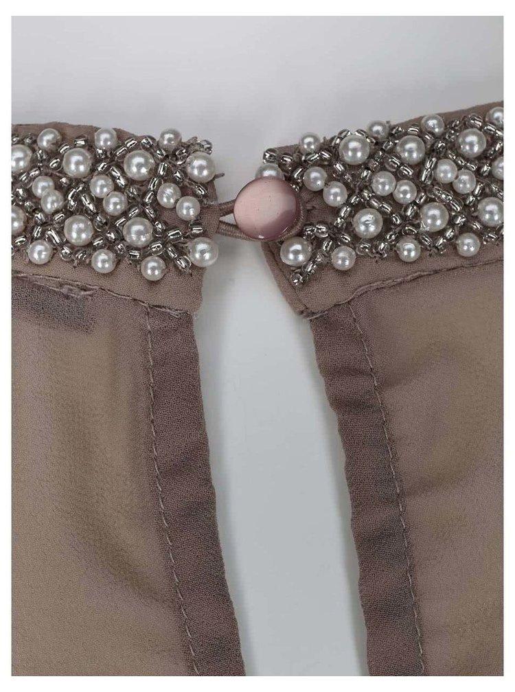 Bluză cu spate transparent VILA Gilio - nude