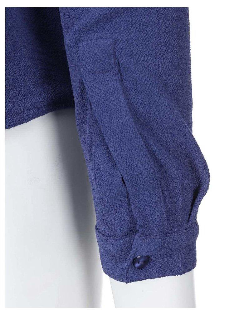 Modrá halenka s dlouhým rukávem VILA Arch