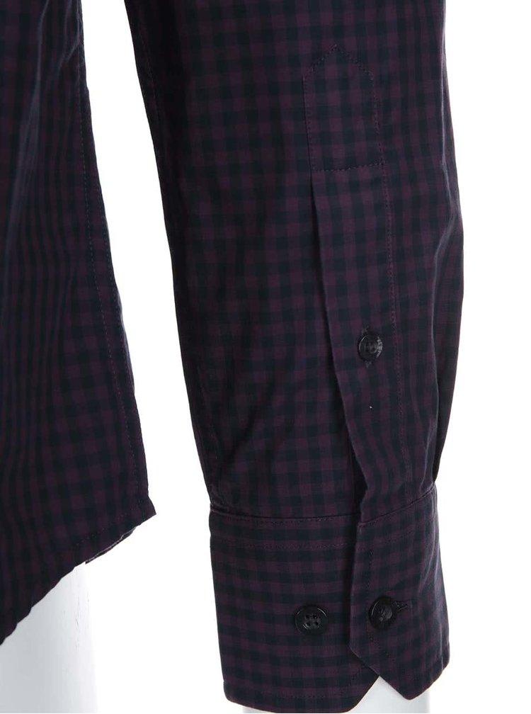 Tmavofialová kockovaná košeľa Ben Sherman