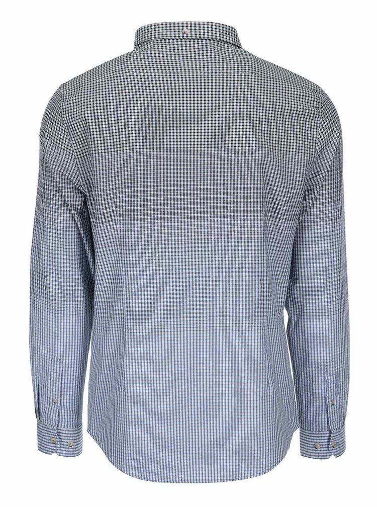 Modro-šedá kostkovaná košile Ben Sherman
