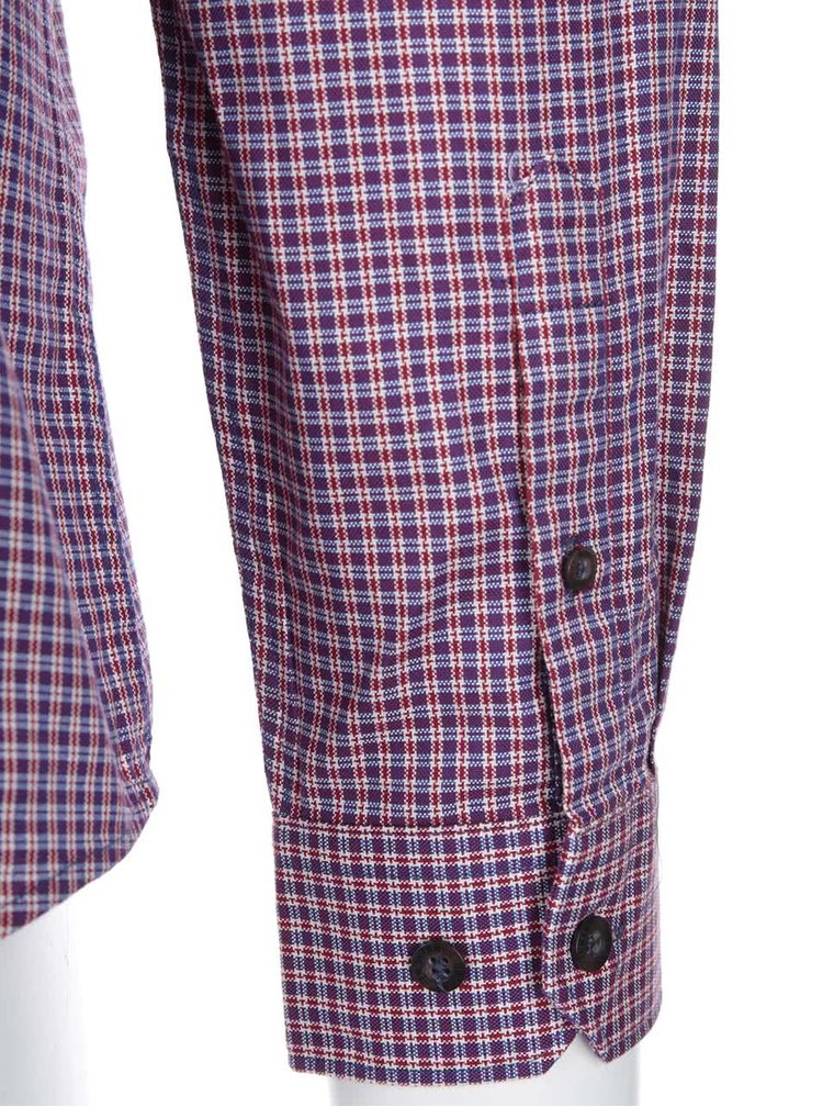 Camasa cadrilata in degrade rosu de la Ben Sherman