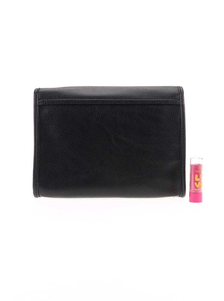 Čierna listová kabelka s ozdobnou retiazkou ONLY Dixie