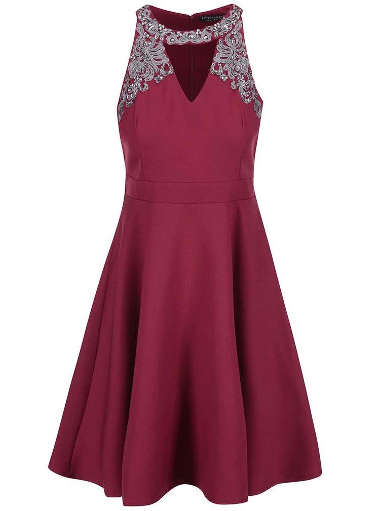 Rochie cu decorații îndrăznețe Little Mistress - roșu