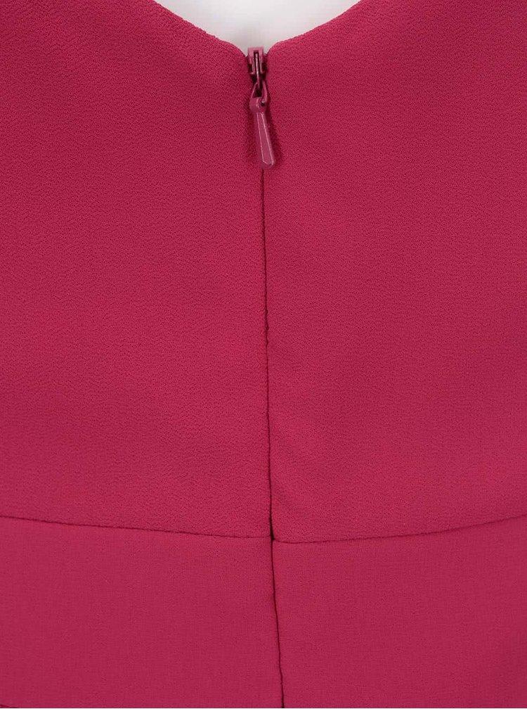 Rochie roz cu decolteu floral Little Mistress - roz