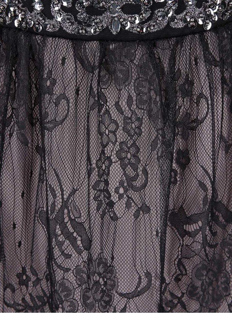Černé šaty s krajkovou sukní Little Mistress