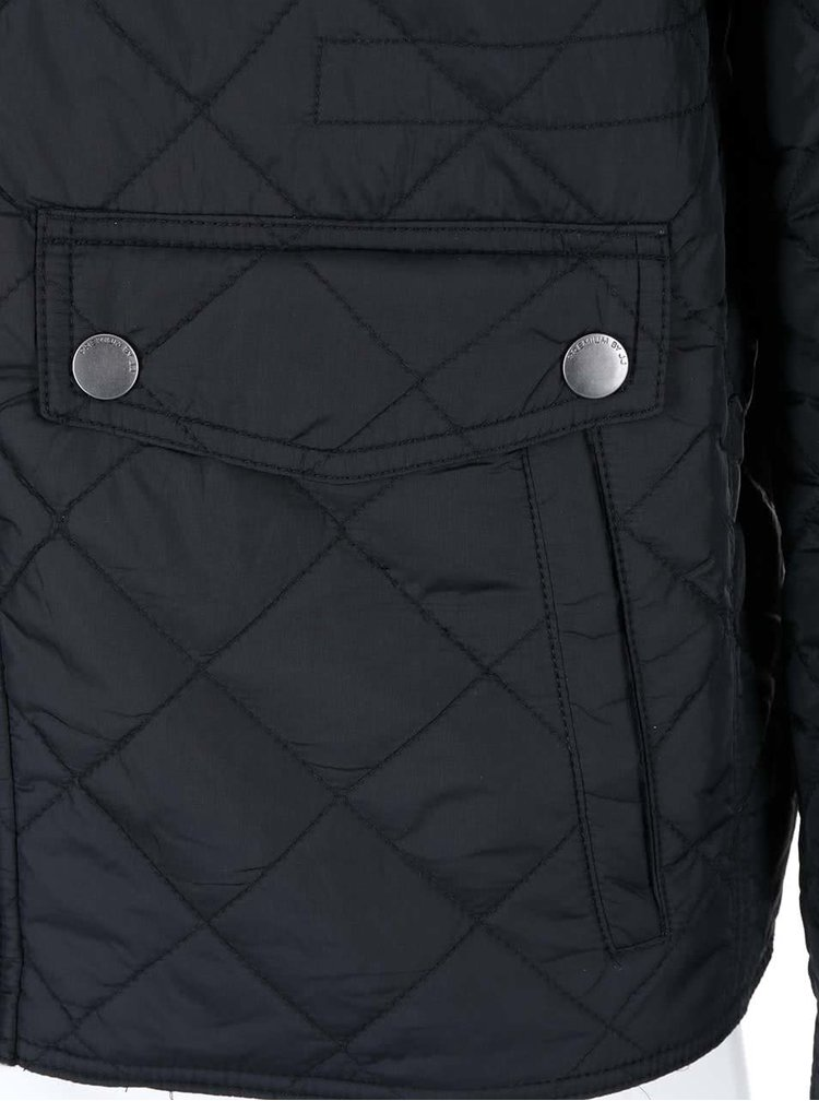 Čierna prešívaná bunda Jack & Jones Steven