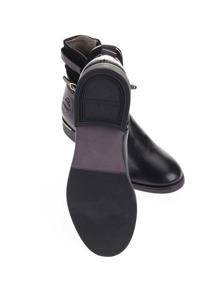 4bbd90d094 Čierne dámske kožené členkové topánky Gant Laura