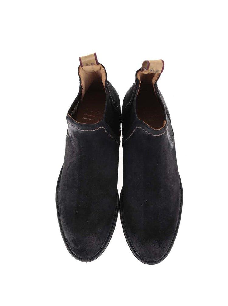 Černé dámské kožené kotníkové boty GANT Lydia
