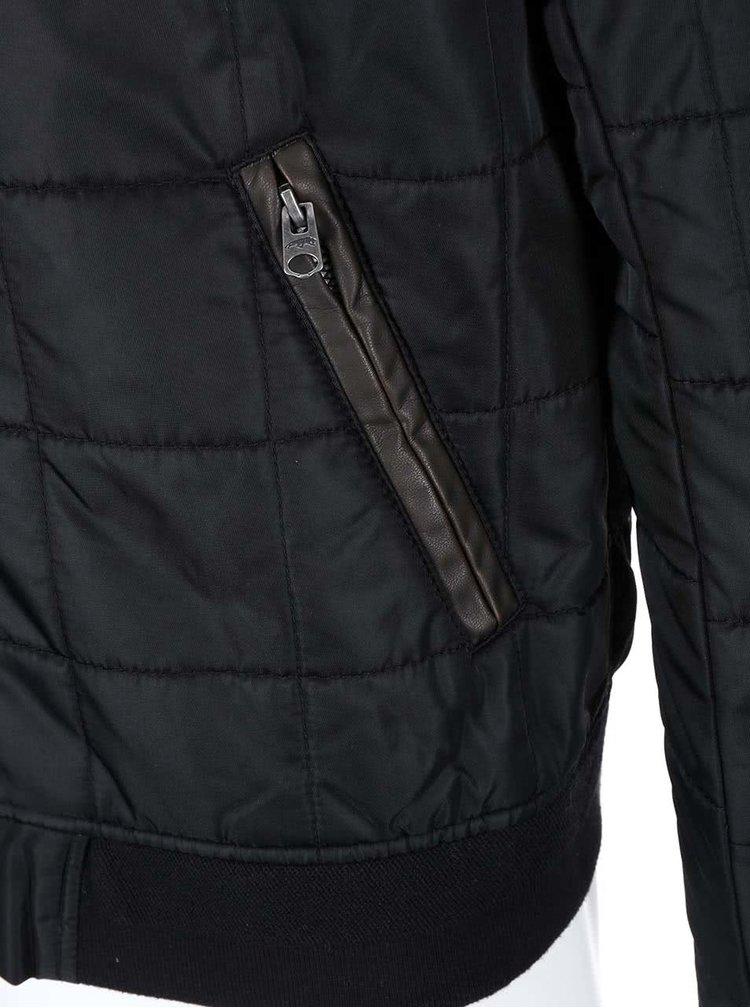 Jachetă bomber cu detalii pe coate Jack & Jones Driver - negru
