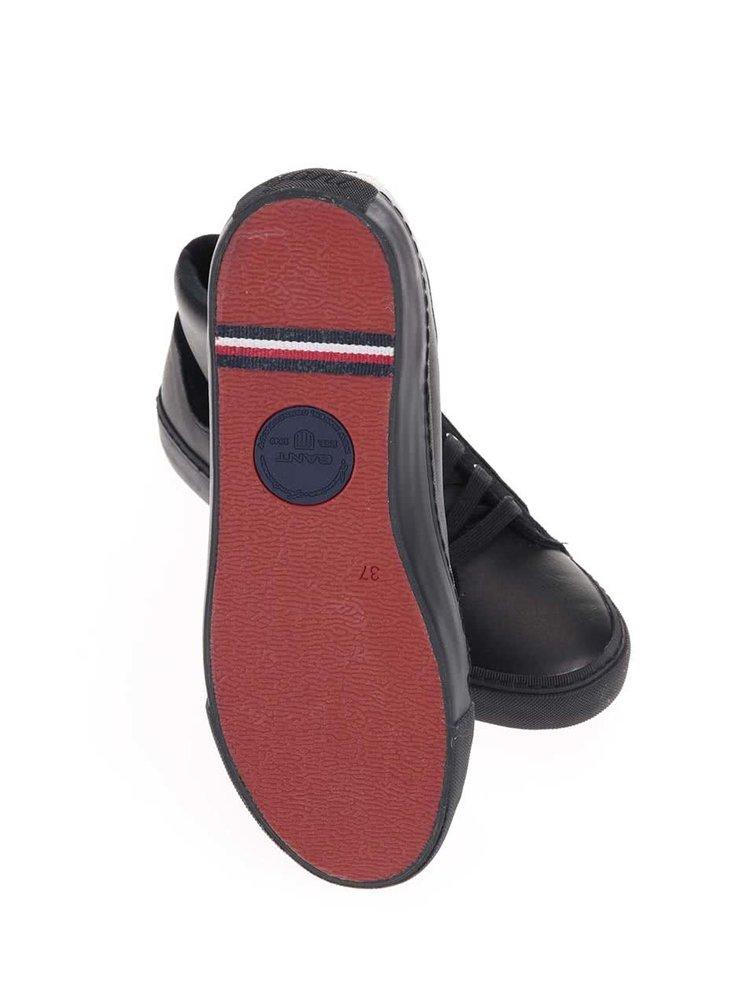 Černé dámské kožené kotníkové tenisky GANT Alice