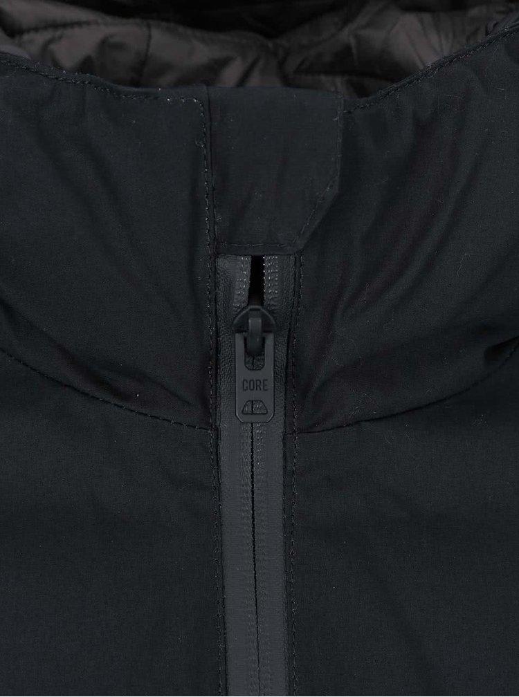 Černá bunda s kapucí Jack & Jones Bull