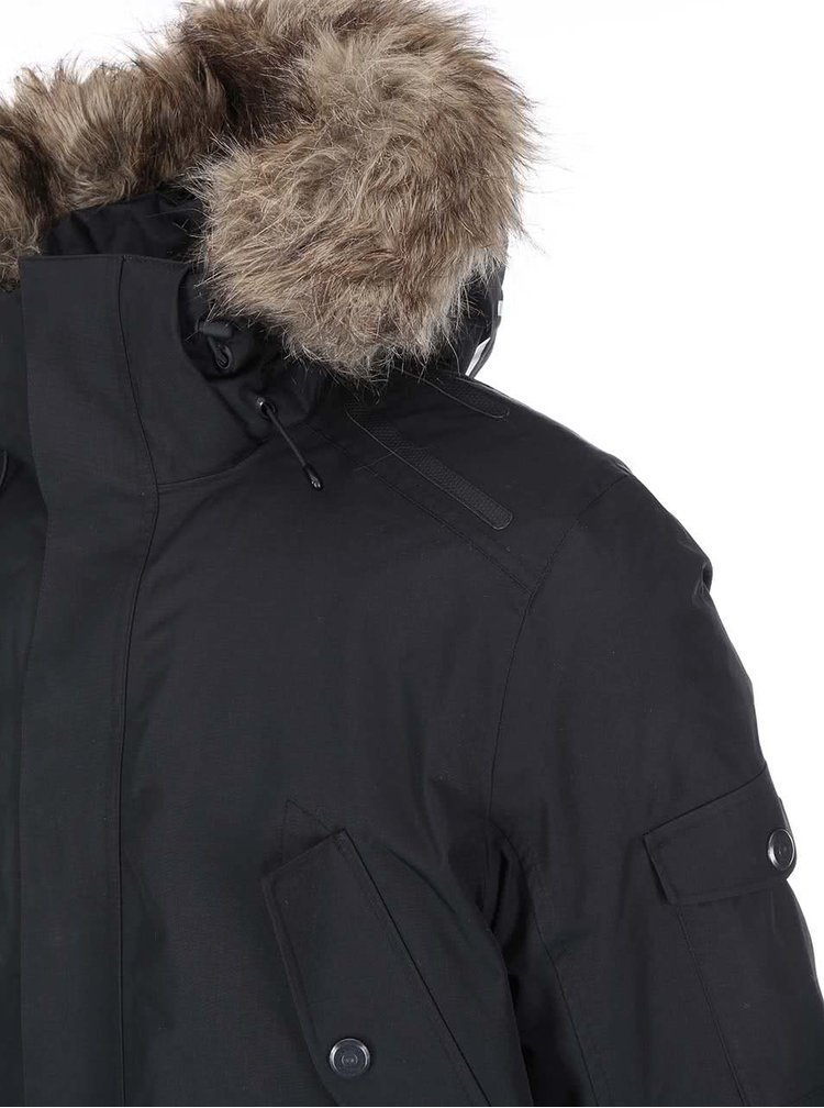 Geaca Parka neagra Jack & Jones Tech Meyland