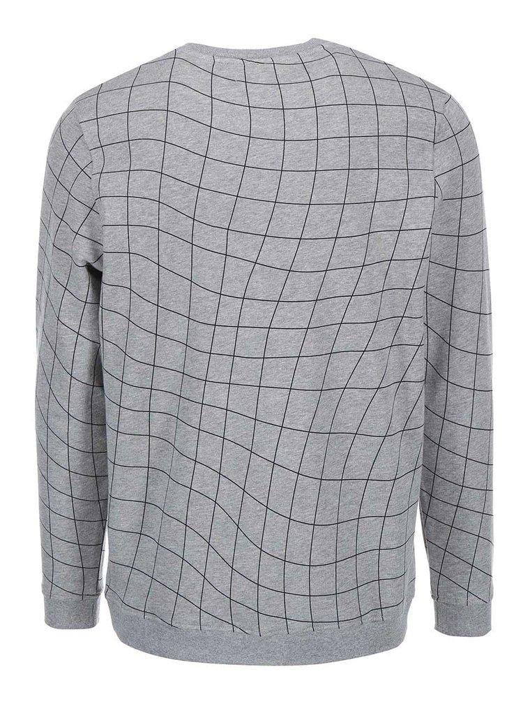 Sivá mikina s geometrickým vzorom Jack & Jones Move