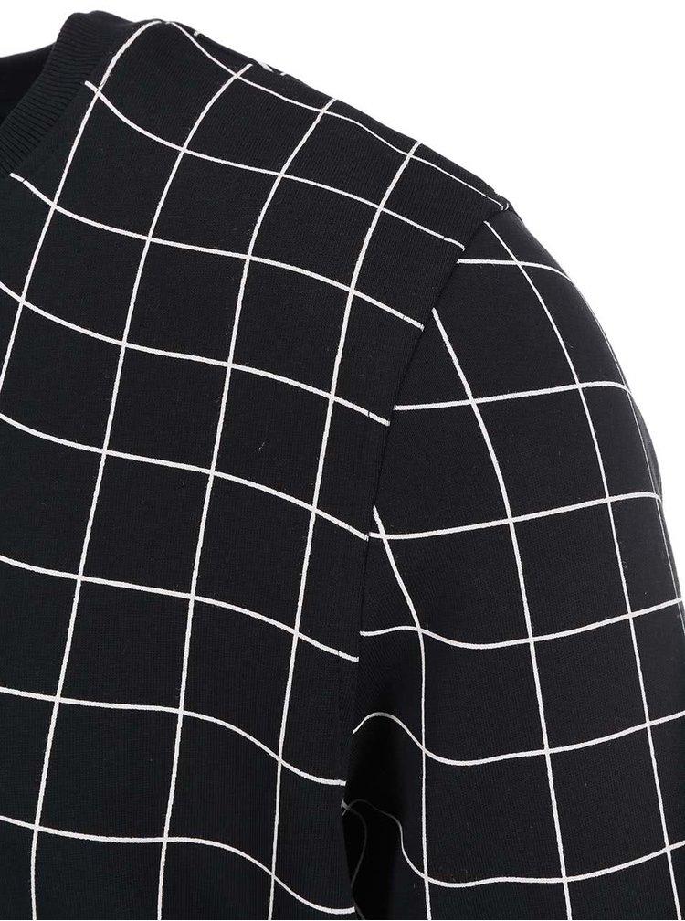 Bluzon cu model geometric Jack & Jones Move - negru
