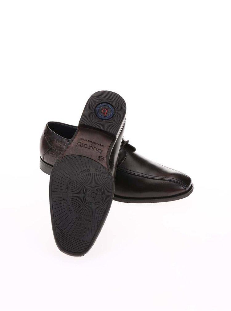 Pantofi Oxford maro inchis din piele de la Bugatti