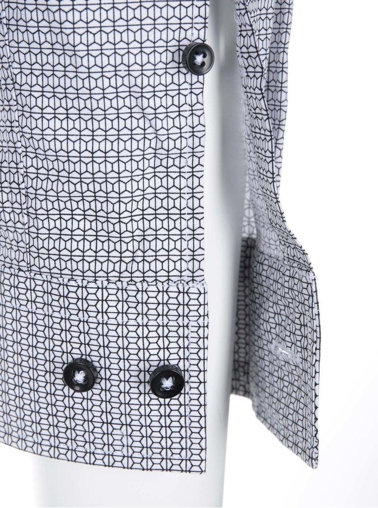Camasa cu model, alb cu negru, de la Seidensticker Kent 98