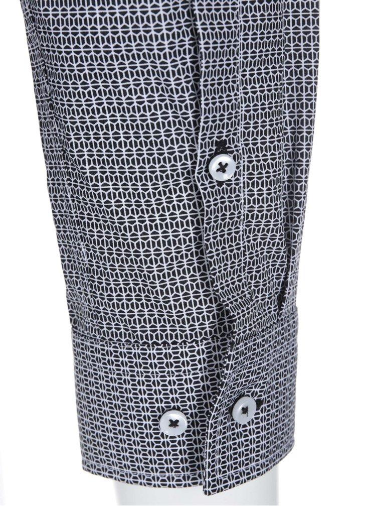 Camasa cu model, negru cu alb, de la Seidensticker Kent 98