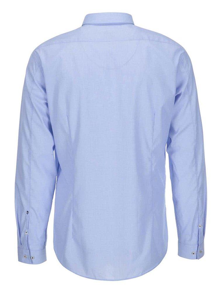 Světle modrá košile s jemným vzorem Seidensticker Frank