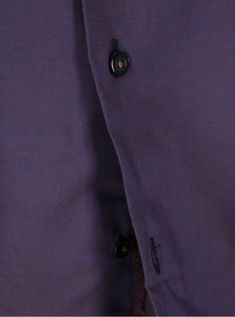 Cămașă violet, în carouri, Seidensticker Paul Panel
