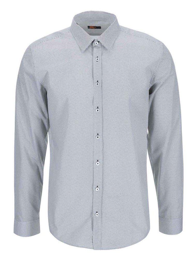 Bílo-černá vzorovaná košile Seidensticker Kent 98