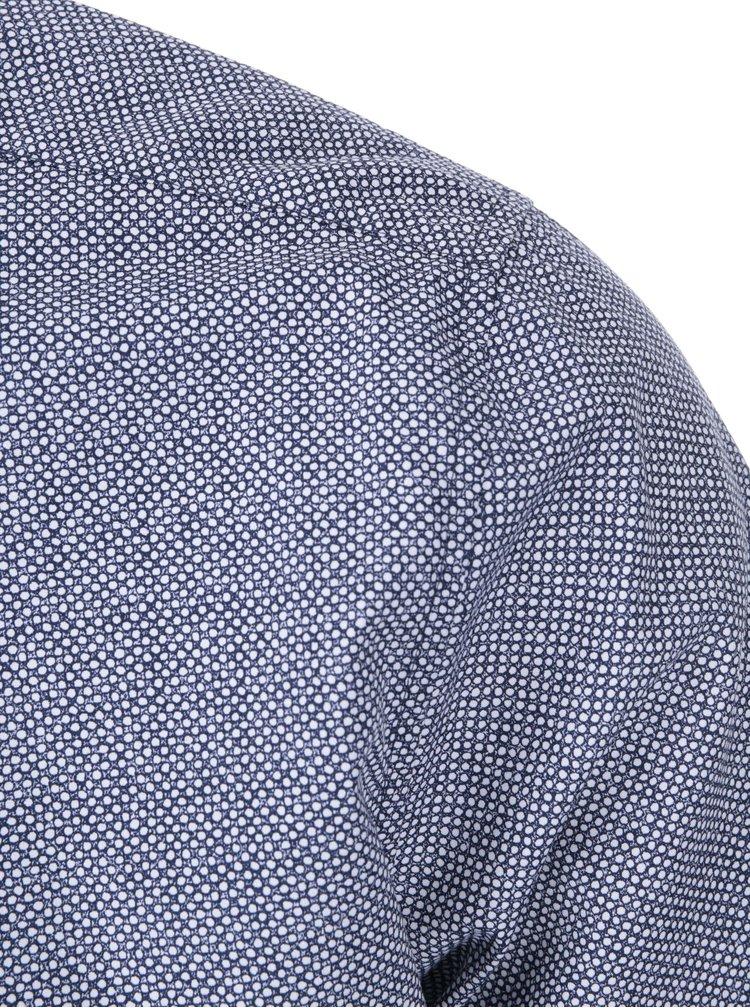 Cămașă cu buline, alb cu albastru, de la Seidensticker Modern Kent Patch