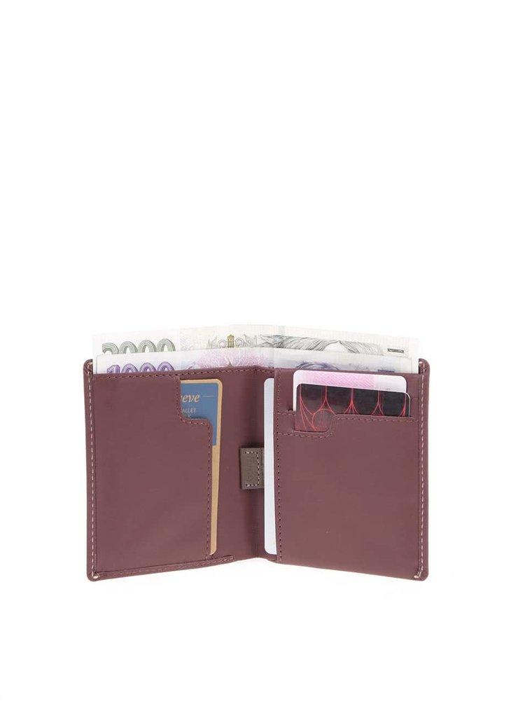 Vínovohnědá kožená peněženka Bellroy Note Sleeve