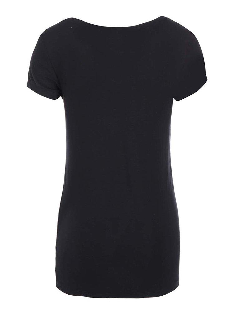 Černé tričko s krátkým rukávem Haily´s Sophie