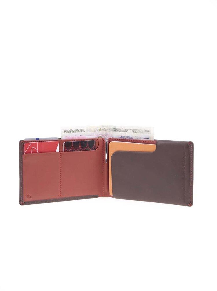 Tmavě hnědá kožená cestovní peněženka Bellroy Travel