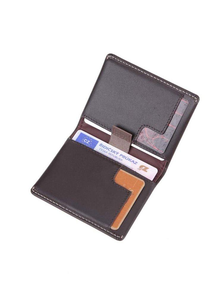 Tmavohnedá kožená vrecková peňaženka Bellroy Slim Sleeve