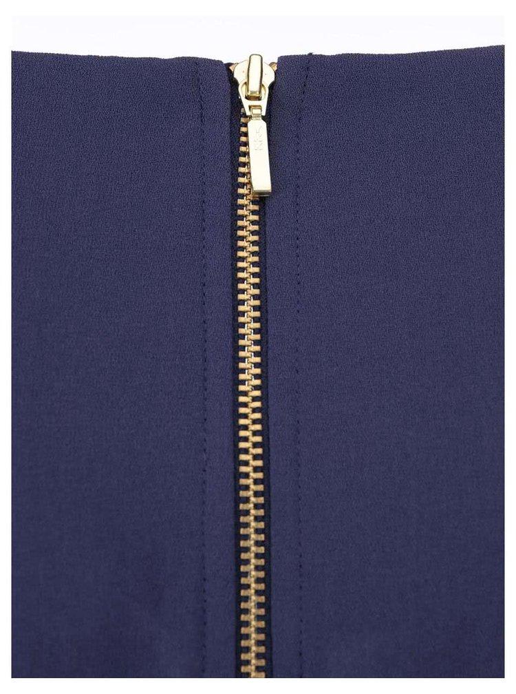 Fialovomodré puzdrové šaty so zaväzovaním Closet