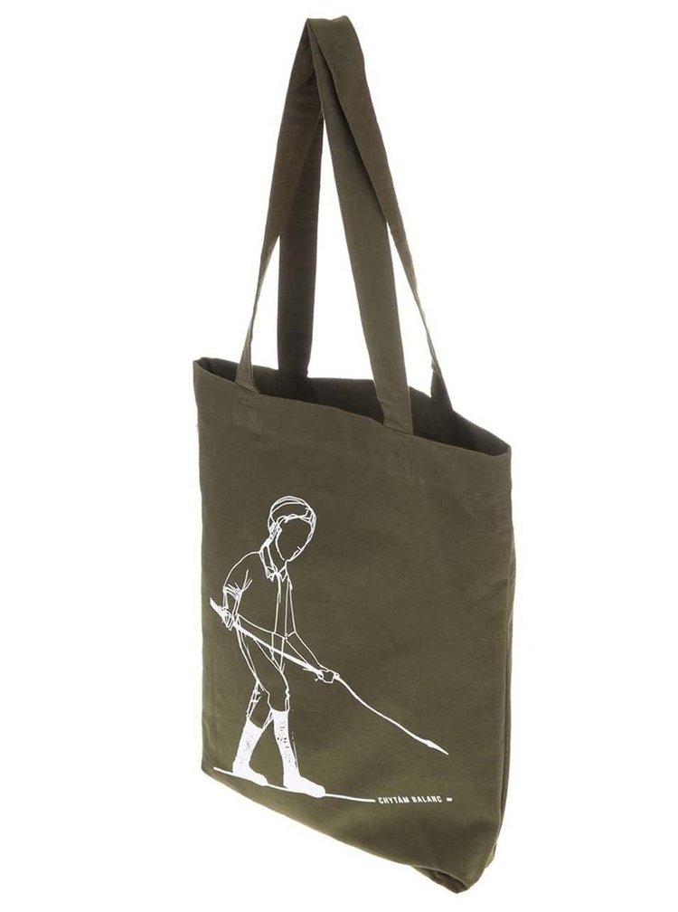 """""""Dobrá"""" zelená taška s potiskem pro Green Doors"""