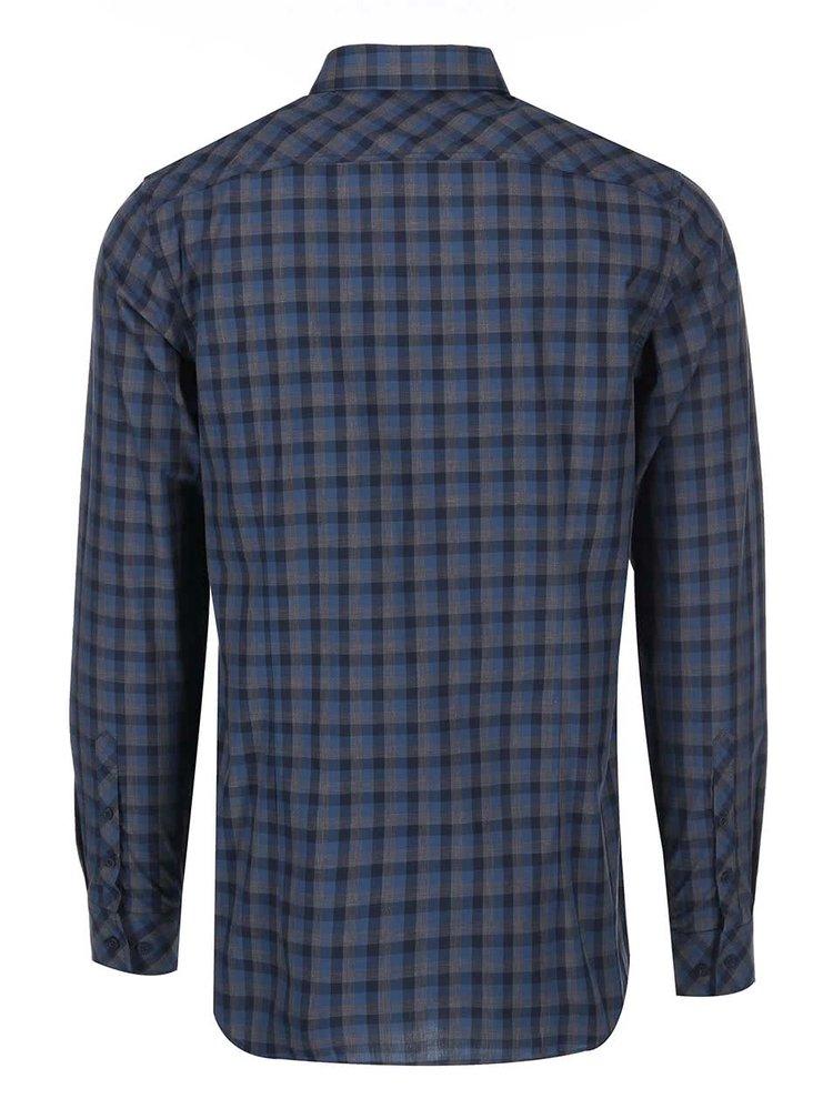 Šedo-modrá pánská kostkovaná košile Selected Homme James