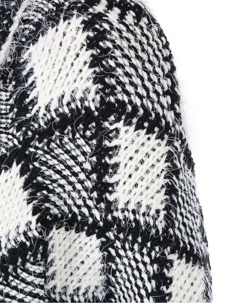 Černo-krémový vzorovaný kardigan ONLY Irene