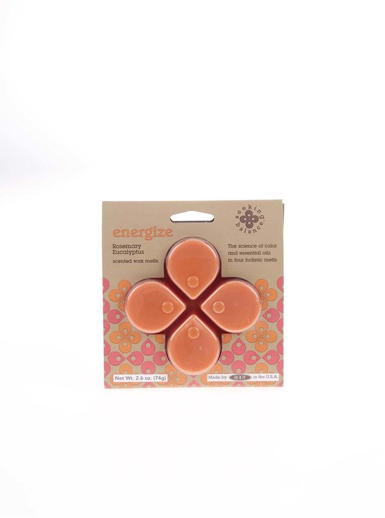 Oranžový vonný vosk Root Candles Rosemary Eucalyptus - Energize