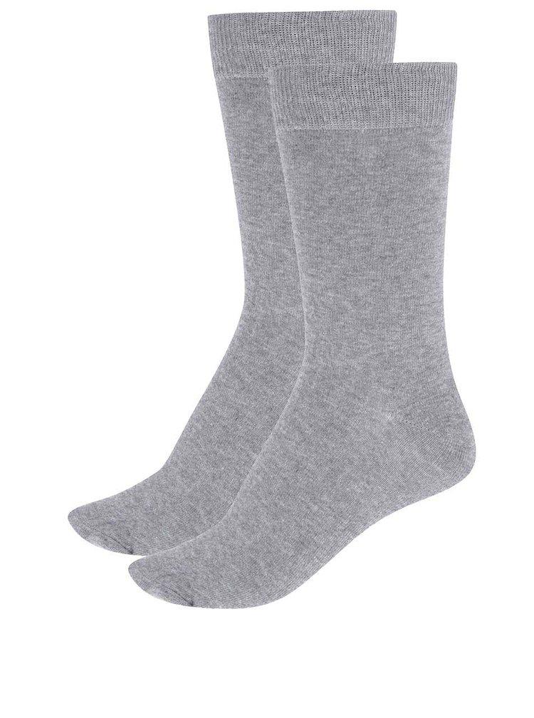 Sada dvou ponožek v šedé barvě Selected Homme Earl