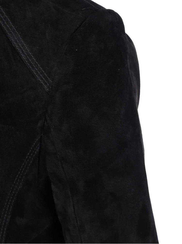 Černá kratší kožená bunda VERO MODA Forever