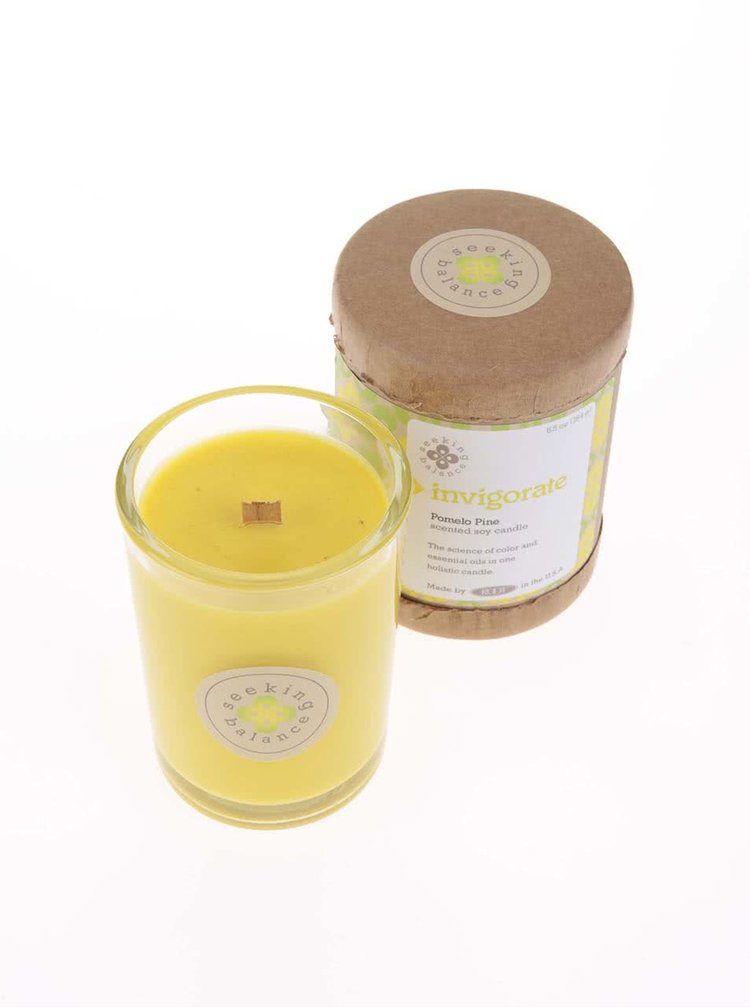 Žlutá vonná svíčka Root Candles Pomelo Pine - Invigorate