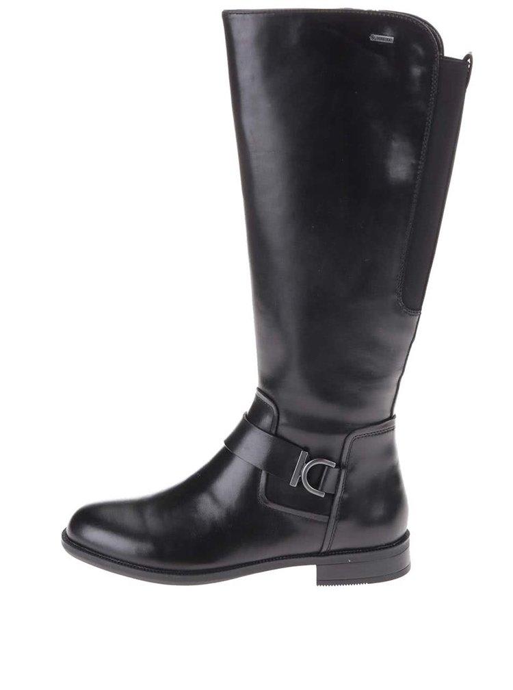 Cizme înalte din piele cu căptușeală GORE-TEX Clarks Mint Treat - negru