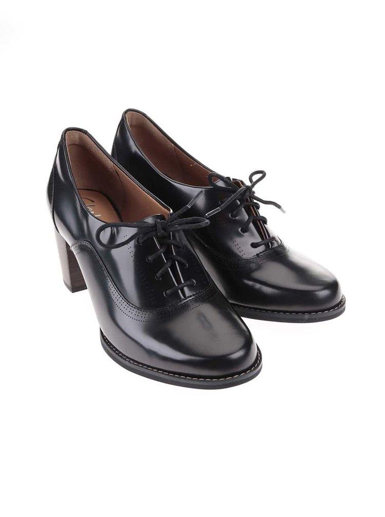 Pantofi Oxford negri Clarks Tarah Victoria din piele
