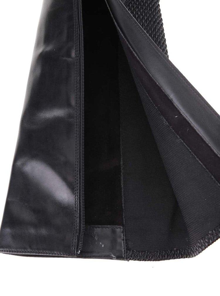 Čierne kožené čižmy Clarks Pita Dakota
