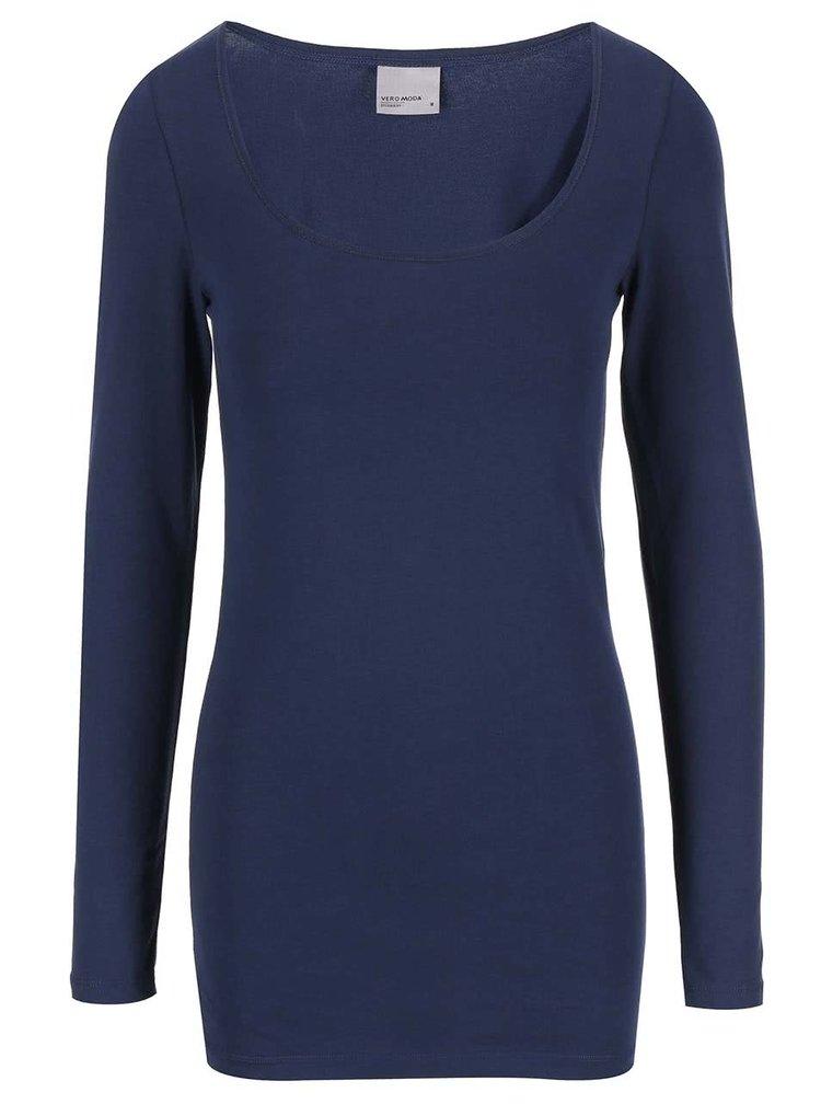 Tmavě modré tričko s dlouhým rukávem VERO MODA Maxi My