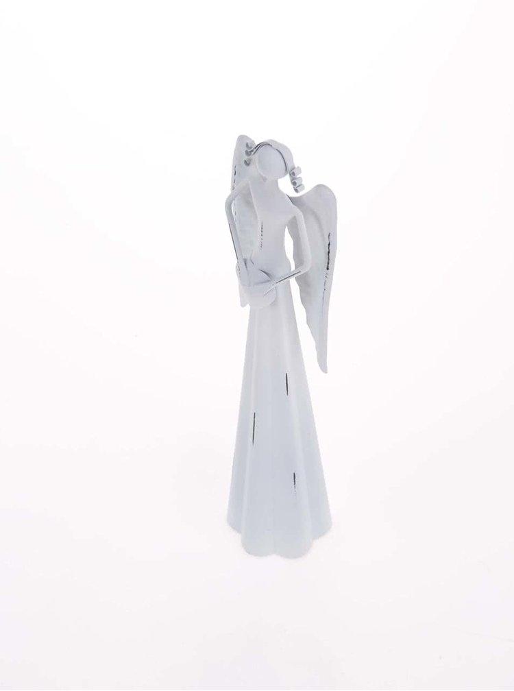 Biely malý anjel so srdcom Dakls