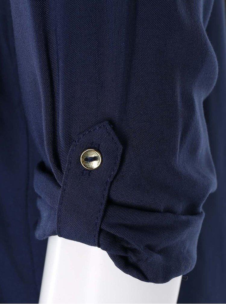 Tmavě modrý top s 3/4 rukávem VERO MODA Boca