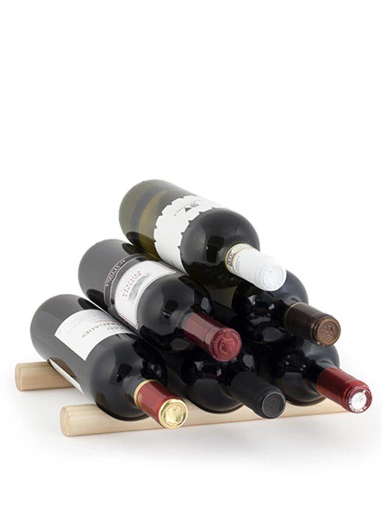 Dvoudílný dřevěný stojan na vína Kikkerland