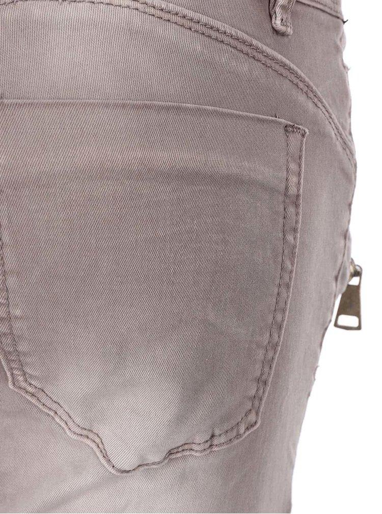Šedé džíny se zipy Madonna Isela