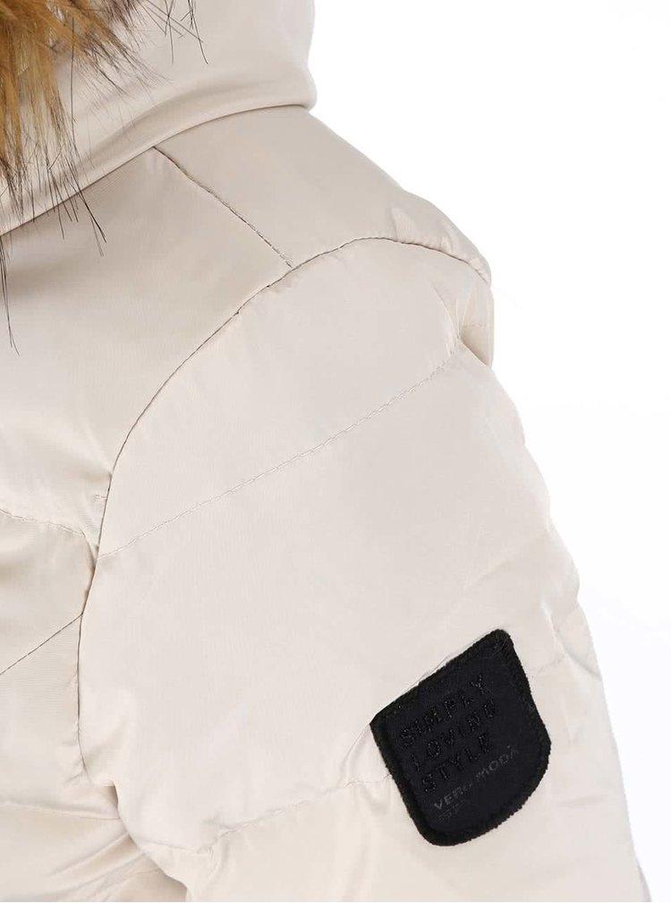 Béžová bunda s kapucňou VERO MODA Kelly
